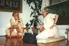 Prague 1995 Prasadam at Govindas